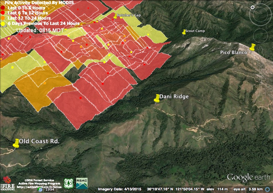 Soberanes Fire Week One Xasáuan Today - Us active fire map